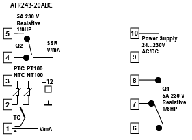 single channel temperature controller wiring diagram