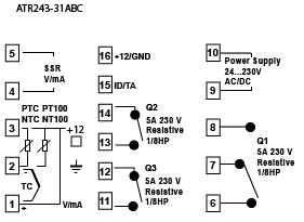 temperature controller ct input wiring diagram